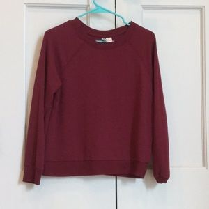 H&M wine colored sweatshirt